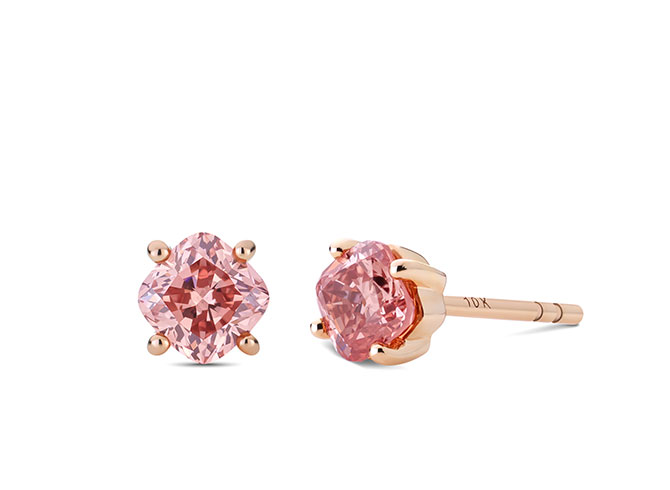 Lightbox Solitaire Earrings 1_1_2-cttw Pink