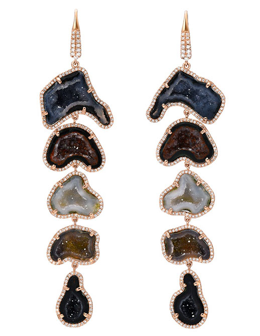 Liven Co geode cascade earrings