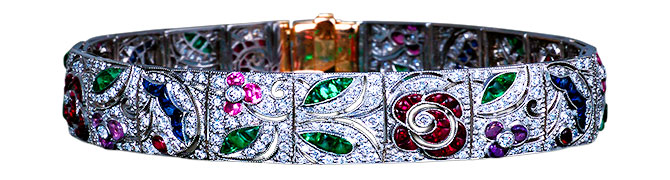 Michael Schofield art deco style bracelet