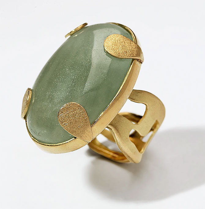 Millapani milky aquamarine ring