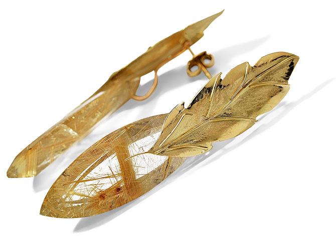Millapani rutilated quartz earrings