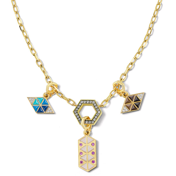 Harwell Godfrey talisman charms necklace