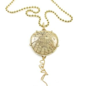 Nan Fusco fossilized sand dollar necklace