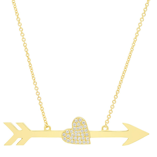 Established Jewelry heart and arrow necklace