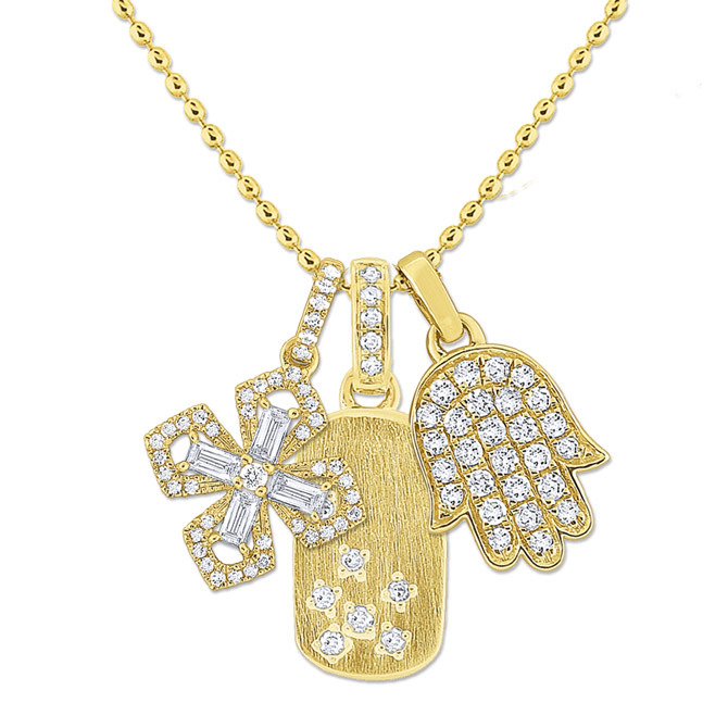 KC Designs diamond charms necklace