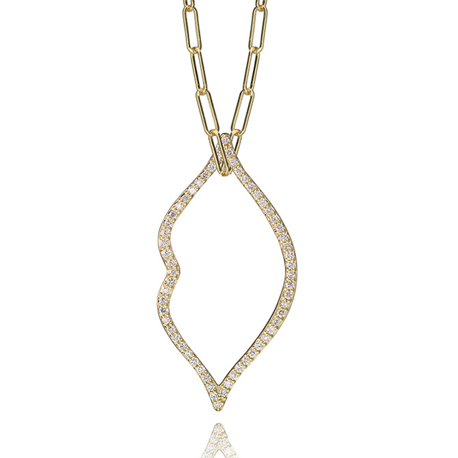 Lafia Jewellery diamond lips charm