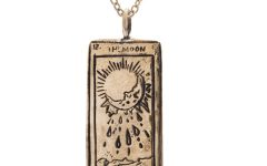 Sofia Zakia Moon Tarot Card necklace