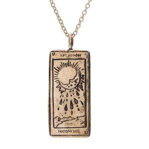 Sofia Zakia Moon Tarot Card necklace