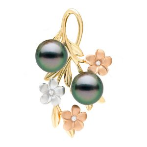 Maui Divers Pearls in Bloom pendant