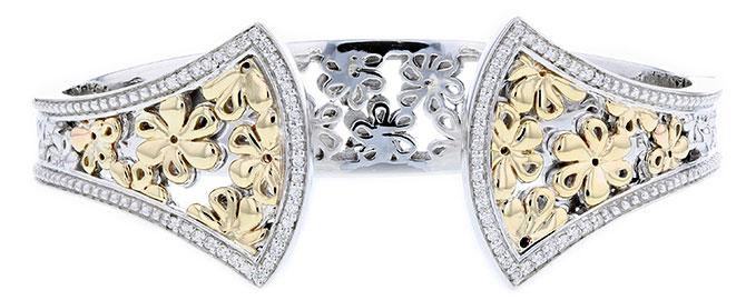 PiyaRo by Aiya Designs silver hinge bracelet