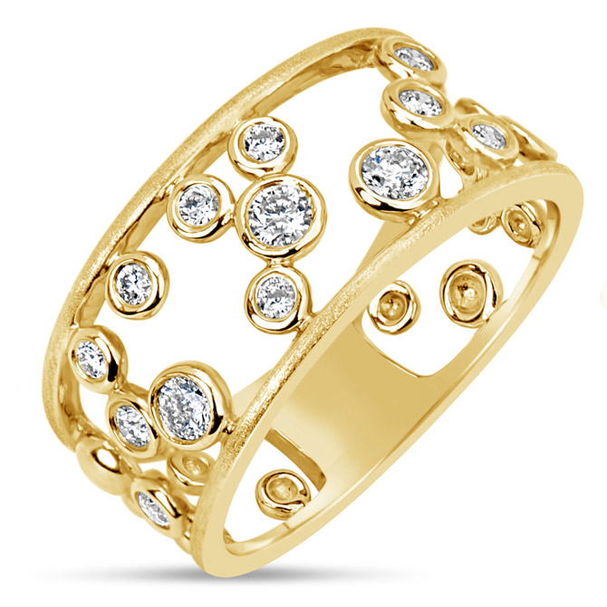 Dilamani diamond bubble ring