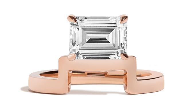 Shahla Karimi Mid-Century Wright engagement ring