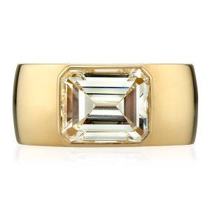 Single Stone Misha emerald diamond engagement ring