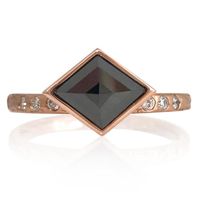 K Mita black diamond Diana ring