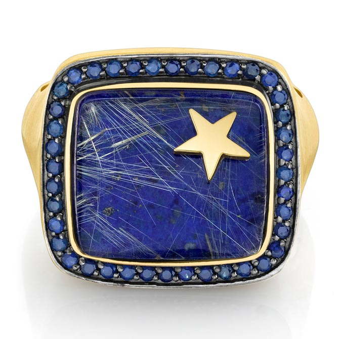 Andrea Fohrman lapis men's ring