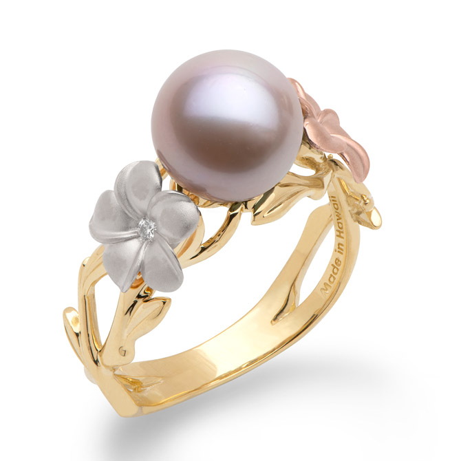 Maui Divers Pearls in Bloom ring