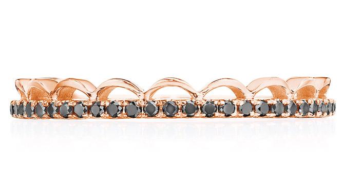 Tacori crown black diamond band
