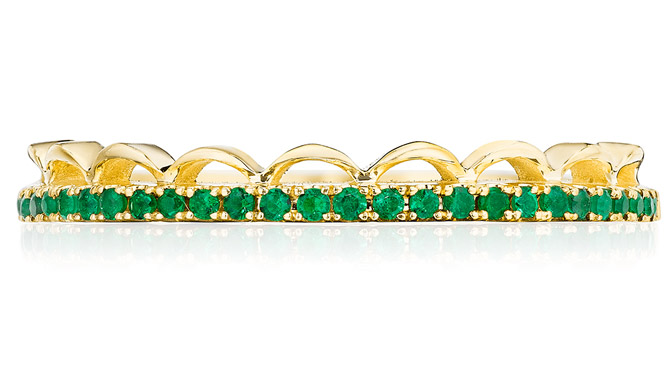 Tacori emerald wedding band
