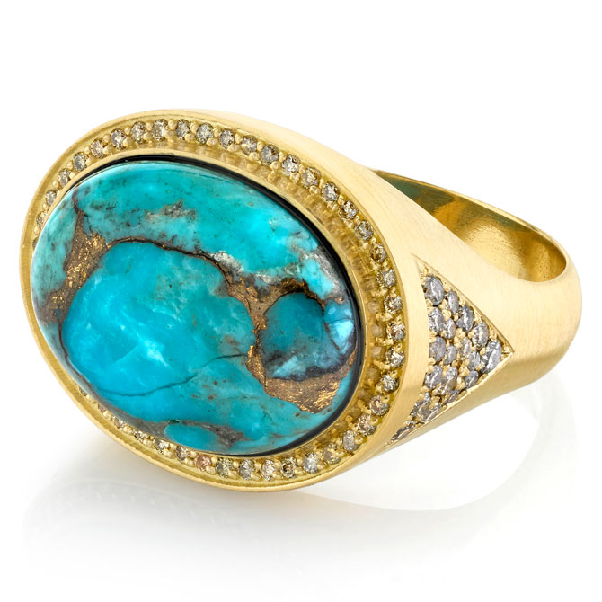 Andrea Fohrman men's turquoise ring