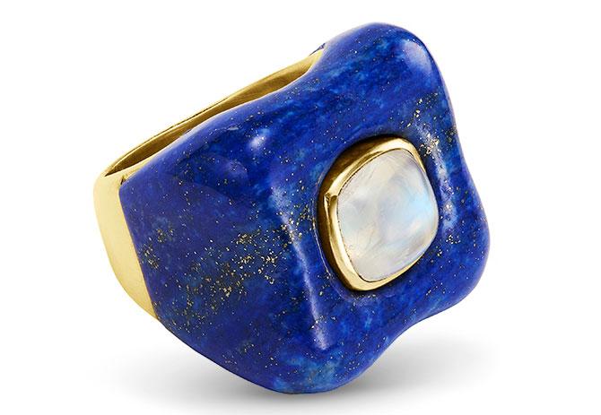 Rush Draper lapis ring
