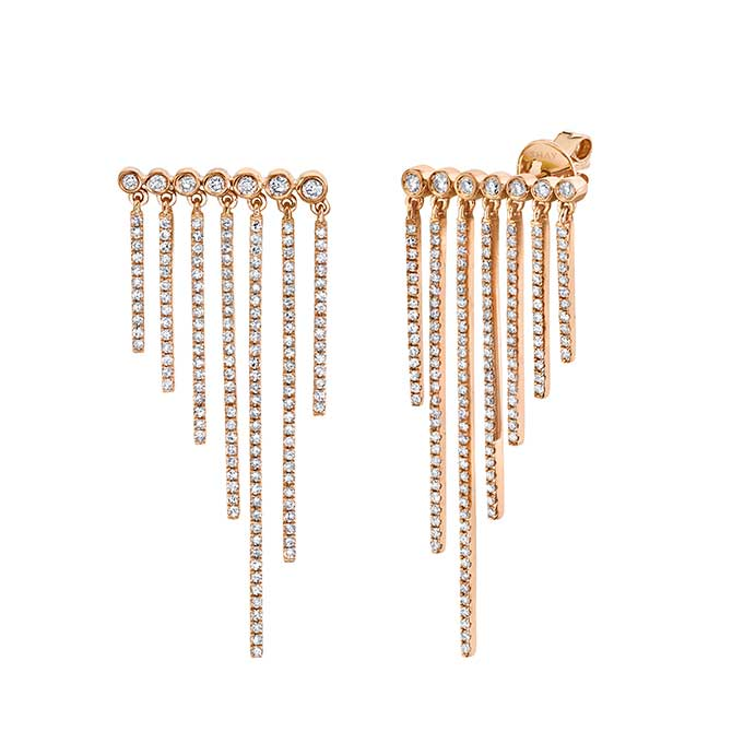 Shay Pave fringe earrings