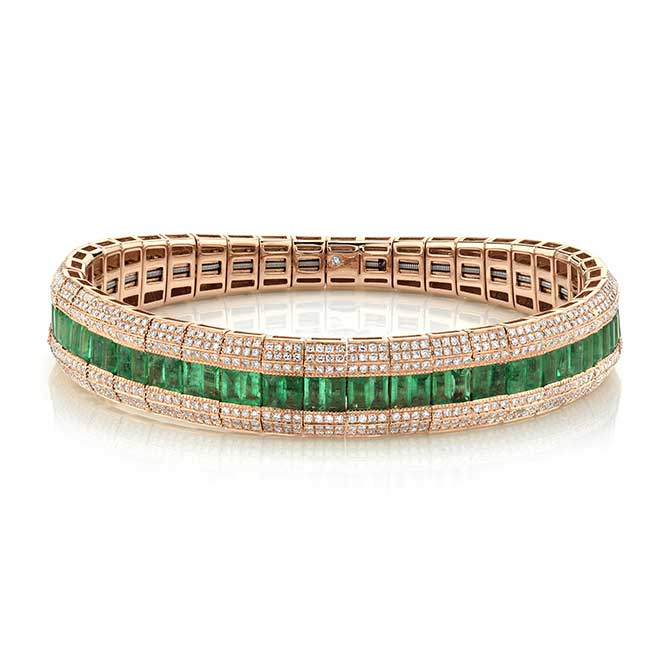 Shay emerald Fishbone bracelet