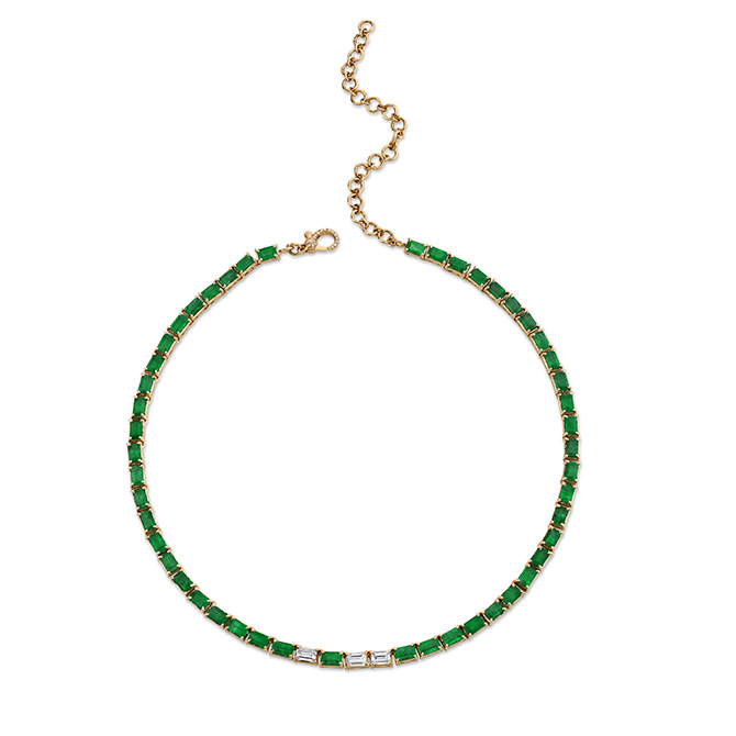 Shay emerald tennis necklace