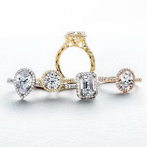 Tacori royal T petite crescent bloom collection