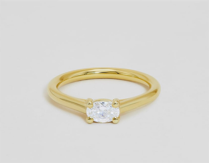 Tansy oval ring by Ceremony