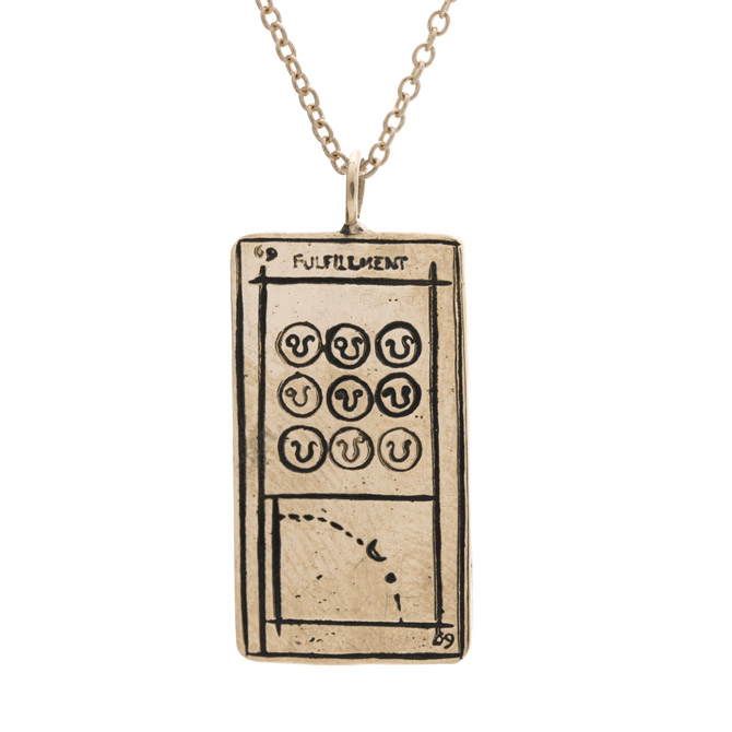 Sofia Zakia Fulfillment tarot card necklace