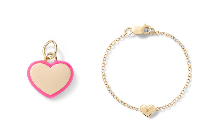 Alison Lou Puffy Heart charm and bracelet