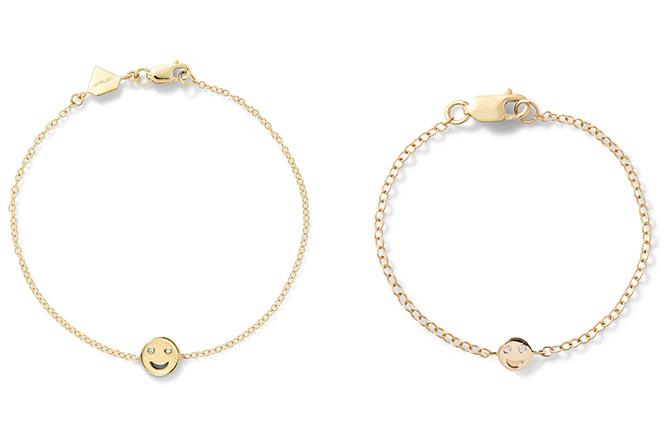 Alison Lou smiley face bracelets
