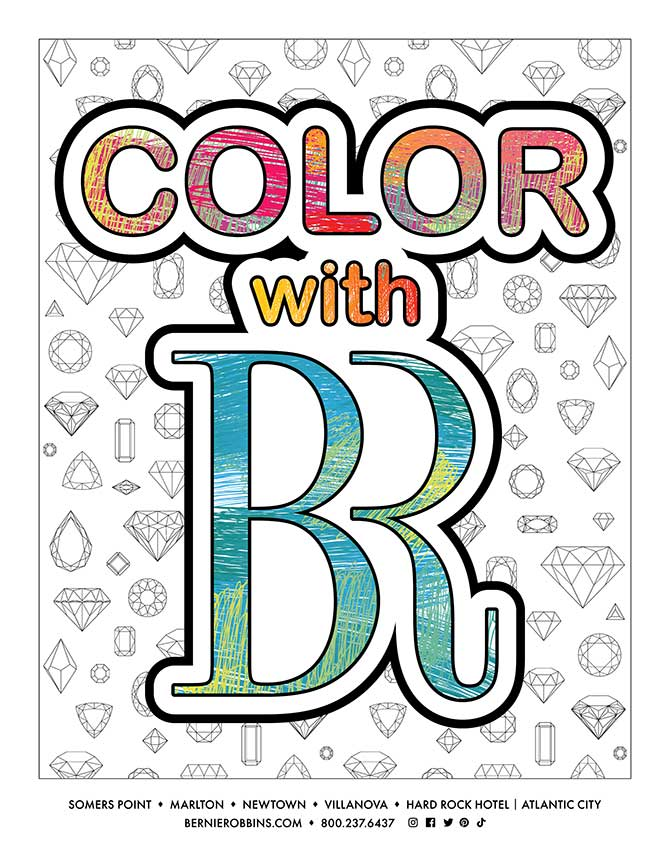 Bernie Robbins coloring book cover