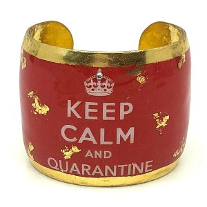 Evocateur Keep Calm and Quarantine bracelet