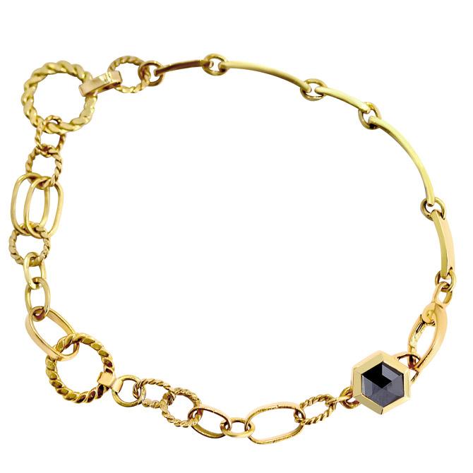 Chandally unisex Hexagon bracelet