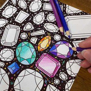 Diamond doodles via tatumgems