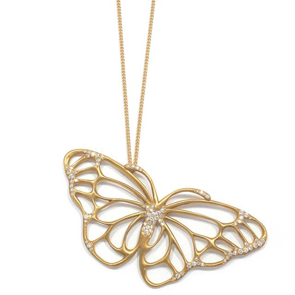 Doyle Tiffany butterfly pendant