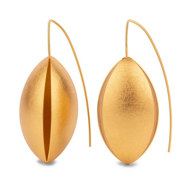Zaremski gold drop earrings