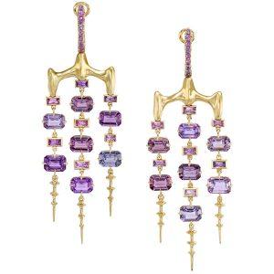 Vram gold Chrona chandelier earrings