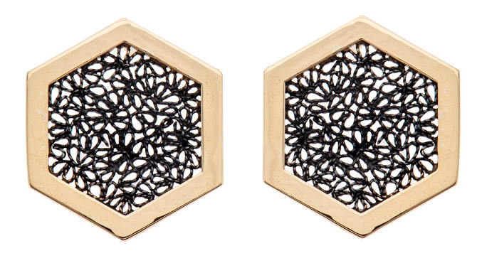 Chandally Hexagon earrings