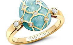 Faberge enamel blue ring