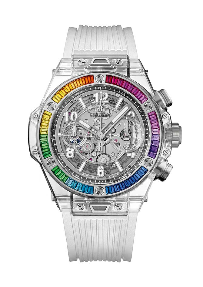 Hublot Big Bang unico rainbow sapphire watch