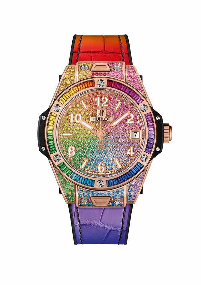 Hublot One Click Rainbow watch