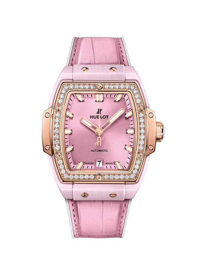 Hublot pink ceramic watch