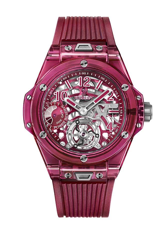 Hublot red sapphire Unico watch