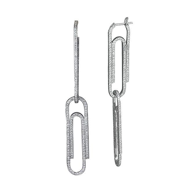 Jacob Co x Virgil paper clip earrings