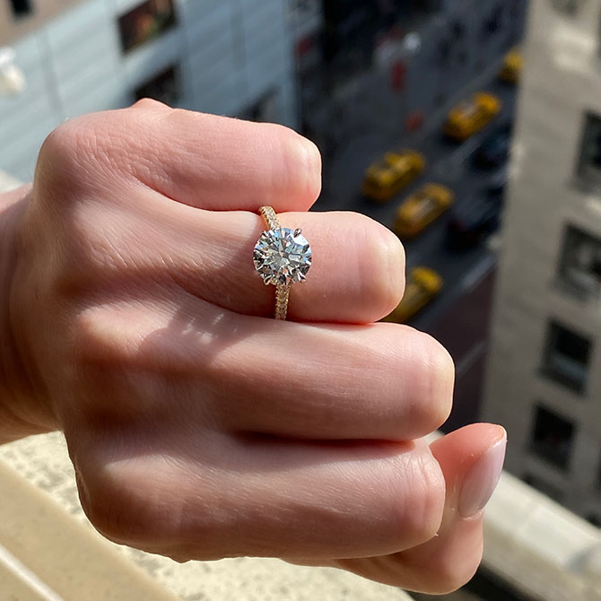 Lauren Addison diamond solitaire