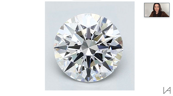 Lauren Addison video consult screen shot diamond