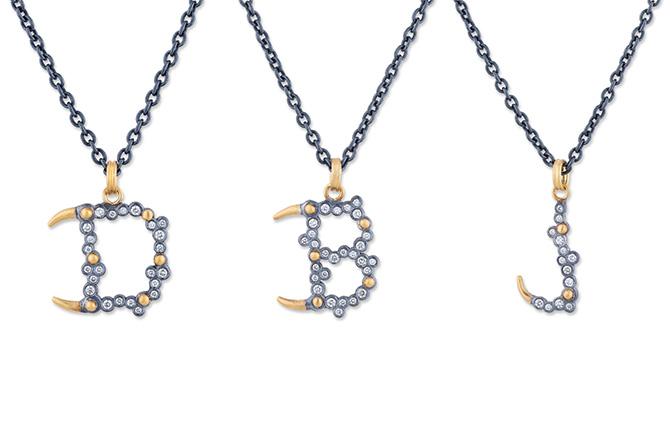 Lika Behar letter pendants