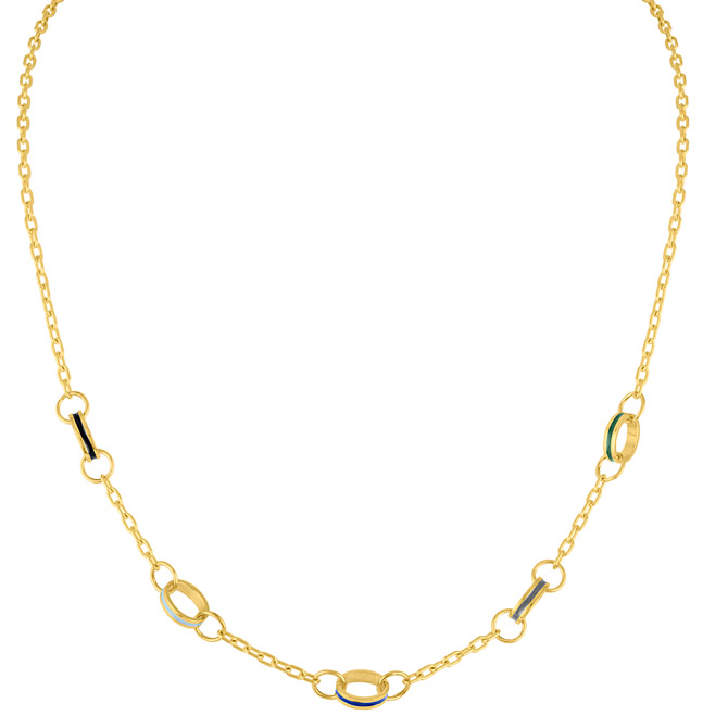 Amy Glaswand link necklace